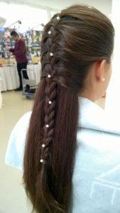 Frisur für lange Haare